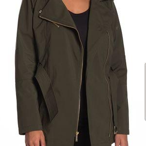 Michael Kors Jackets & Coats - New - Michael  Kors Asymmetrical Belted Trench Ja